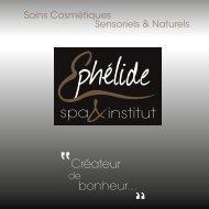 Brochures Tarifs Ephélide