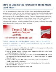 How to Disable the Firewall on Trend Micro Anti Virus?