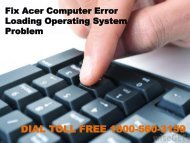 Fix Acer Computer Error Loading Operating System Problem 18883107073