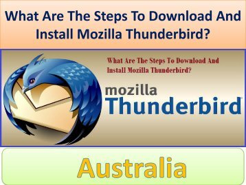 What Are The Steps To Download And Install Mozilla Thunderbird?
