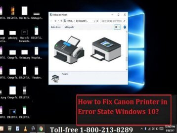 Dial 18002138289 to Fix Canon Printer in Error State Windows 10