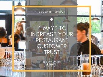 4 ways to increase your restaurant customer trust