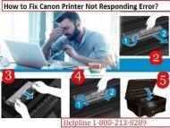 How to Fix Canon Printer Not Responding Error? 1-800-213-8289