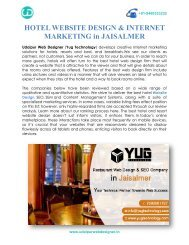 HOTEL WEBSITE DESIGN & INTERNET MARKETING in JAISALMER