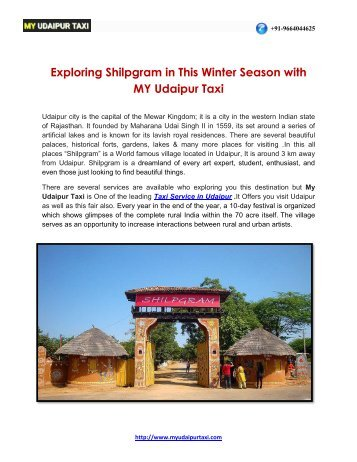 Exploring Shilpgram in This Winter Season with My Udaipur Taxi