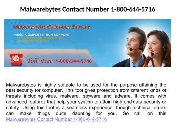 Malwarebytes Toll Free Number 1-800-644-5716