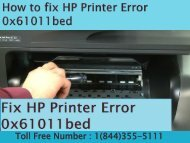 8005769647 How to fix HP Printer Error 0x61011bed