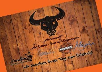 Speisekarte Milchhäusl Schwangau