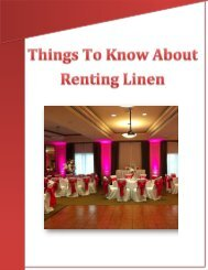 Things To Know About Renting Linen