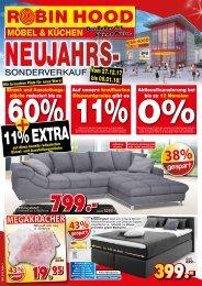 Neujahrs-Sonderverkauf bei Robin Hood Möbel und Küchen 78166 Donaueschingen