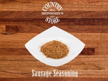 Buy Sausage Seasoning Online