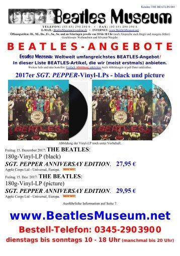 Beatles Museum - Katalog 81 mit Hyperlinks