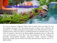 Travel Packages to Costa Rica