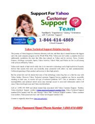 Yahoo Technical Support Helpline Service 1877-503-0107