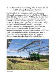 Text für Agrophotovoltaik