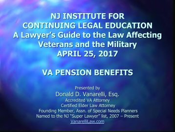 VA Pension Benefits