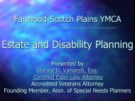 New Jersey Elder Law: Estate and Disability Planning