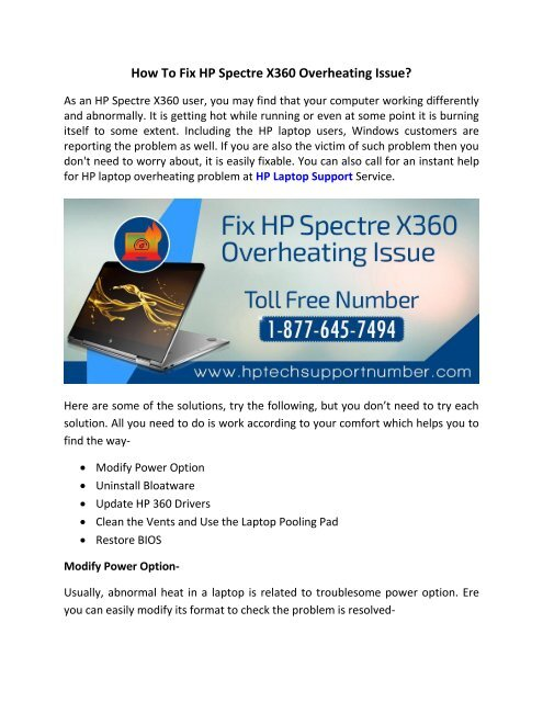 How To Fix HP Spectre X360 Overheating Issue