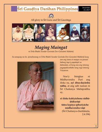 Maging Maingat