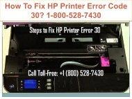 18005287430 Fix HP Printer Error Code 30