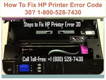 18005287430 Fix HP Printer Error Code 30