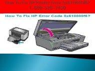 18005287430 Fix HP Printer Error 0x610000f6