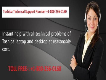 Toshiba Technical Support Number +1-800-256-0160