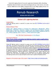 Global LED lighting market is expected to surpass more than US$ 100 Billion by the end of year 2024
