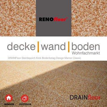 RenoFloor DRAINFloor Marmor Classic