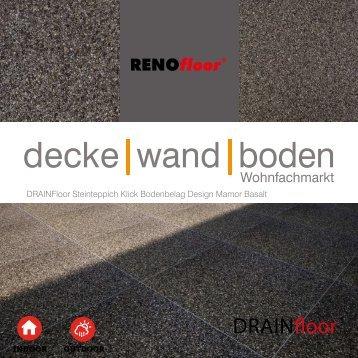 RenoFloor DRAINFloor Marmor Basalt