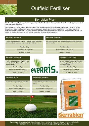 Outfield Fertiliser - East Riding Horticulture