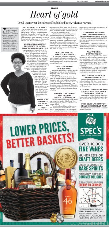 Tamia Thompson, Author Featured in Little Elm Newspaper