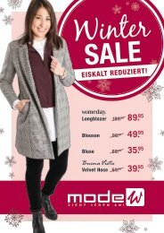 Mode W Winter SALE Prospekt 2017
