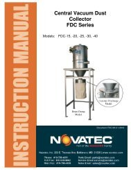 Central Vacuum Dust Collector FDC Series - Novatec, Inc.