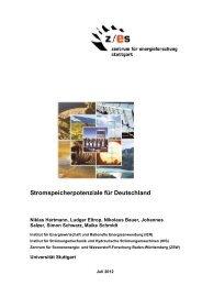 Stromspeicherpotenziale für Deutschland - Zentrum für ...