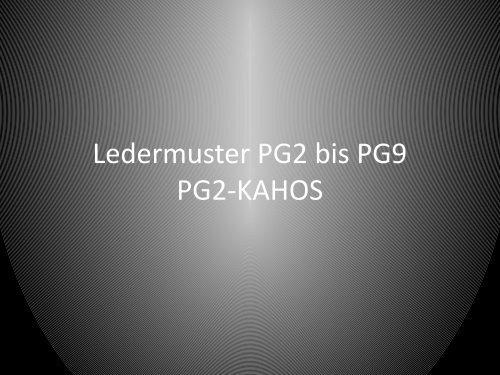 Ledermuster PG2-9