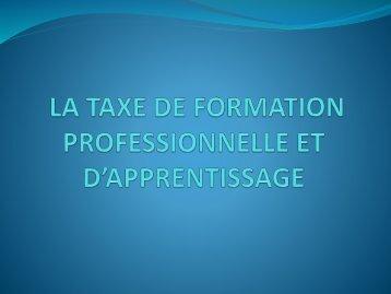 LA TAX DE FORMATION