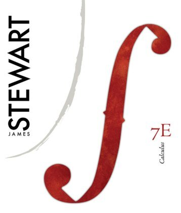 Calculus (7th Edition) Written by James Stewart