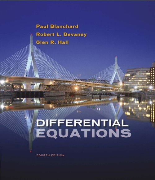Differential Equations (4th Edition) Written by Paul