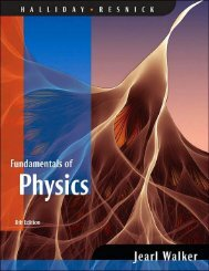 Fundamentals of Physics (8th edition) Written by Halliday, Resnick,  Jearl Walker