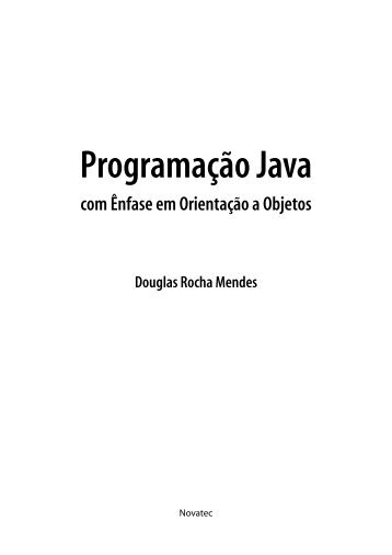 Programação Java - Novatec