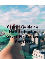 Expert Guide on How to Find a Ghost Writer Los Angeles