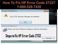 18005287430 Fix HP Error Code 2732