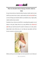 What You Should Do Before Buying A Realistic Adult Sex Dolls-Xosexdoll
