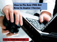 How to Fix Acer PXE-E61 Error In Aspire 1 Version 18883107073