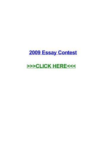 2009 essay contest