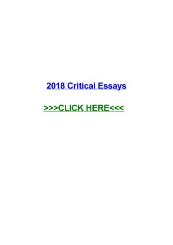 2018 critical essays