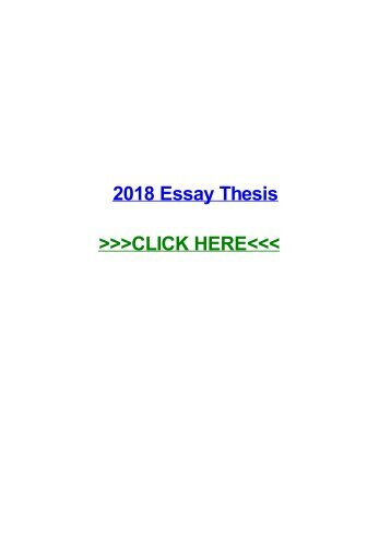 2018 essay thesis