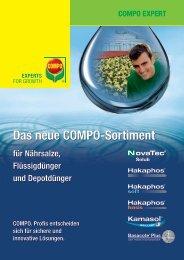 Das neue COMPO-Sortiment - COMPO EXPERT