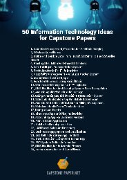 50 Information Technology Ideas for Capstone Papers